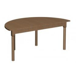 Stół regulowany półokrągły 1200x600
