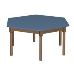 Stół regulowany sześciokątny