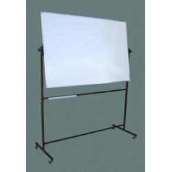 Tablica na stojaku, obrotowa, dwustronna, ceramiczna magnetyczna,  biała 1,00 m  x  1,50