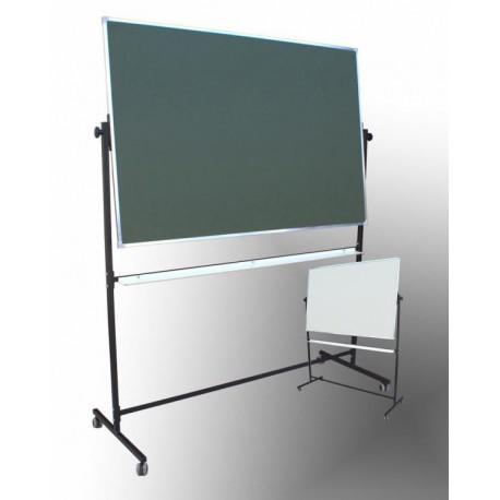 Tablica na stojaku, obrotowa, dwustronna, ceramiczna magnetyczna, mieszana 1,00 m  x  1,50