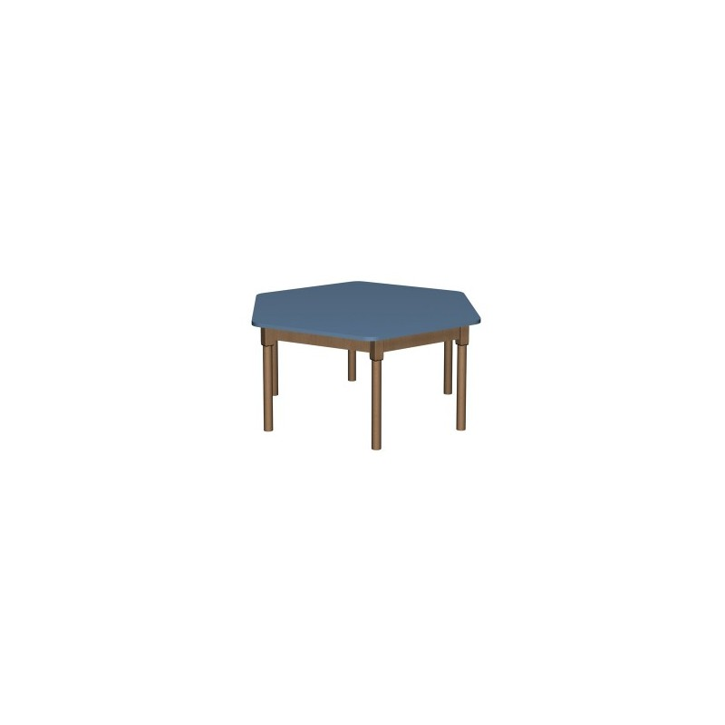 Stół sześciokątny drewniany
