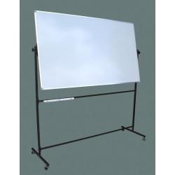 Tablica na stojaku,obrotowa, dwustronna, magnetyczna, biała 1,00 m  x  1,21