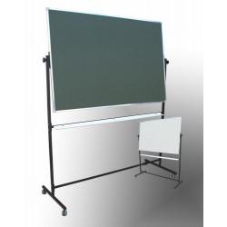Tablica na stojaku,obrotowa, dwustronna, magnetyczna, mieszana 1,00 m  x  1,50