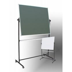 Tablica na stojaku,obrotowa, dwustronna, magnetyczna, mieszana 1,00 m  x  1,20