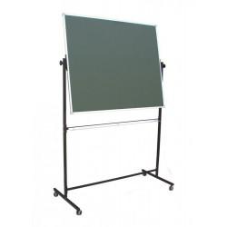 Tablica na stojaku, obrotowa, dwustronna, ceramiczna magnetyczna, zielona 1,00 m  x  1,20