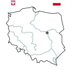 Nakładka suchościeralna Mapa Polski Kontur