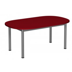 Stół przedszkolny owalny 1200x700 noga fi 40