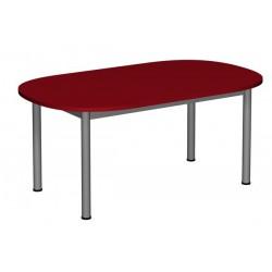 Stół przedszkolny regulowane owalny 1200x700 noga fi 40