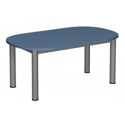 Stół przedszkolny owalny 1200x700 noga fi 60