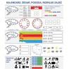 Nakładka suchościeralna magnetyczna KALENDARZ ZEGAR + karty pracy