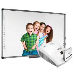 Tablica interaktywna Avtek TT-BOARD 100 Pro z projektorem ultrakrótkoogniskowym Vivitek D757WT