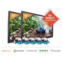 "Zestaw 9 - 2x Monitor interaktywny 65"" Promethean + 5x Robot Makeblock"
