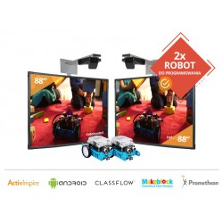 "Zestaw 12- 2x Tablica Interaktywna 88"" Promethean z projektorami krótkoogniskowymi+ 2x Robot Makeblock"