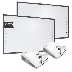 Zestaw Tablica 8 (2X Tablica Interaktywna AVTEK TT-BOARD 90 + 2X projektor ultraktótkoogniskowy VIVITEK D757WT)
