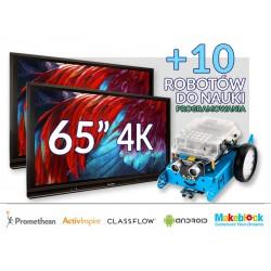 "Zestaw Monitor 9- 2x Monitor interaktywny 65"" 4K z Androidem 8.0 marki Promethean"