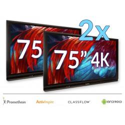 "Zestaw Monitor 12- 2x Monitor Promethean 75"" 4K z Androidem 8.0"