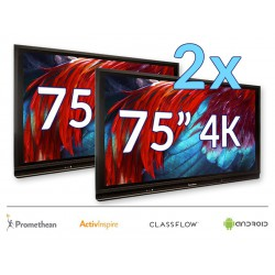 "Zestaw Monitor 37- 2x Monitor Promethean 75"" 4K z Androidem 8.0"