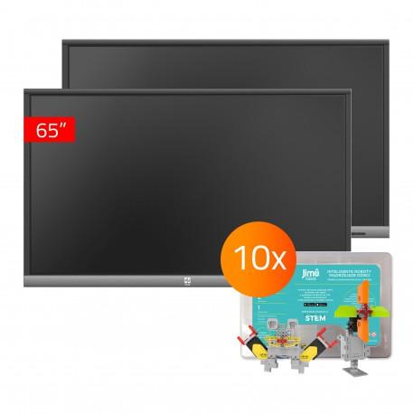 Zestaw Monitor 23- 2x TouchScreen 5 Lite 65, 10x Jimu Box