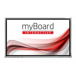 "Monitor Interaktywny MyBoard GREY D-LED 65"" 4K UHD Z Androidem + OPS PLUS I3-7100"