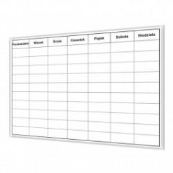 Tablica do planowania tygodnia 2 120x100 cm