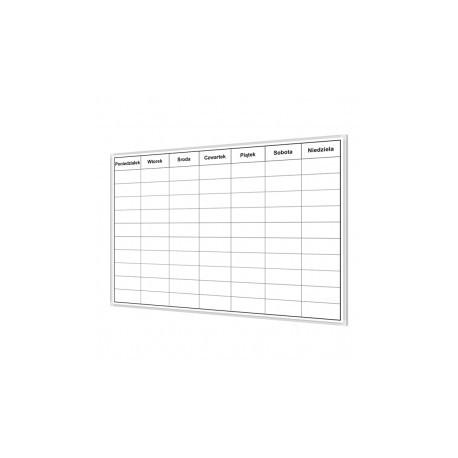Tablica do planowania tygodnia 2 170x100 cm