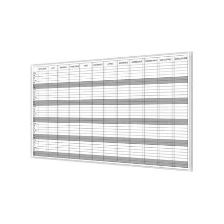 Tablica do planowania roku 100x75 cm