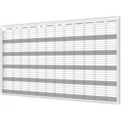 Tablica do planowania roku 200x120 cm